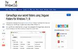 Disguise Folders - Bizalmas adatok titkosítása